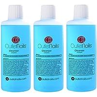 3 x Cleaner para Gel 100ml Aroma Coco Azul - Eliminar la capa pegajosa de geles UV y Led/Esmaltes permanentes/Shellac/Esmaltado Permanente/Cleanser para uñas de gel