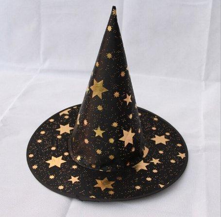 Leisial cappello magico del cappello del maglione del cappello della maglia della strega di halloween nero