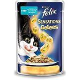 Felix Sensations Katzenfutter Forelle in Gelee mit Spinat, 20er Pack (20 x 100 g) Beutel