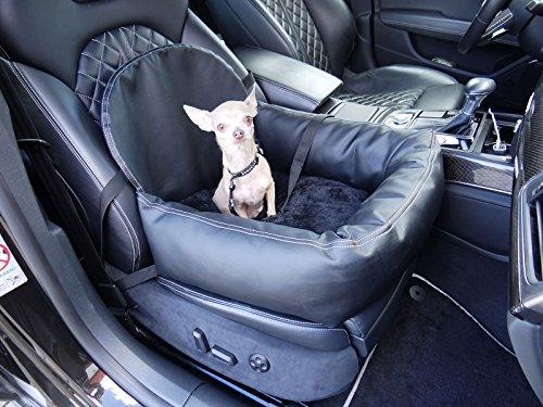 Hossi's Wholesale Carseat-Leder-Flexgurt-0100 Knuffliger Leder-Look Autositz für Hund, Katze oder Haustier inklusiv Flexgurt empfohlen für Ford Maverick, unbekannt - Maverick Leder