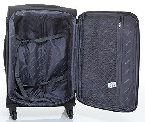 51j3WtXLREL - Beibye 4ruedas maleta de viaje 8005plástico maletín equipaje Maleta Juego de L XL de m en 5colores, negro