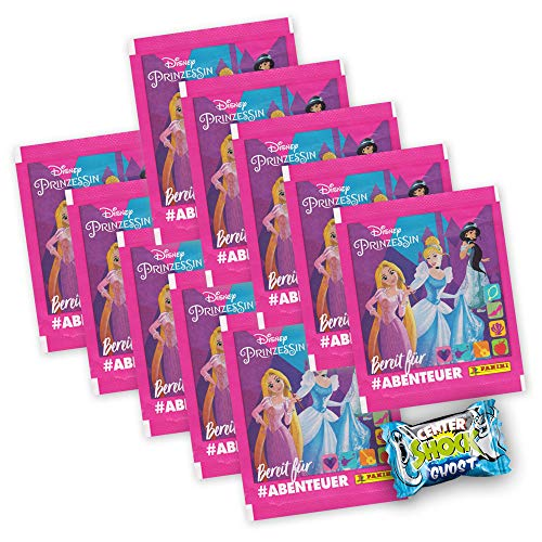 Disney Prinzessin Sammelsticker Edition 2019 - 10 Booster 50 Sticker + Center Shock - deutsch