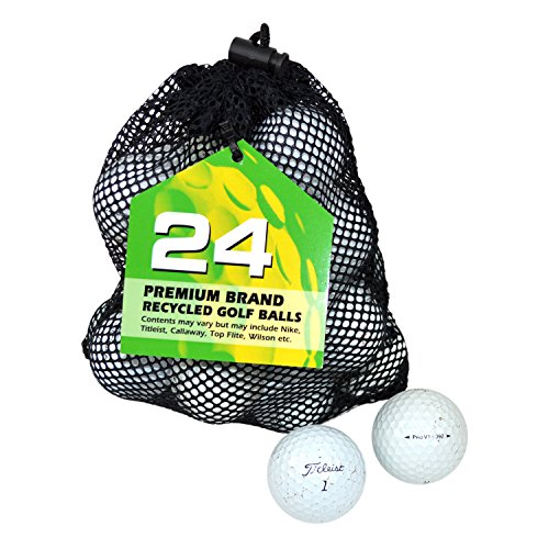 Second Chance Titleist Pro V1 Lake Sac de 24 balles de golf grade B Blanc