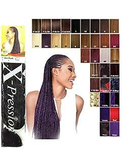 Premium X-Pression tresse couleur 1B (Noir naturel)