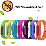 SZSMART Anti-Moustiques Bracelets, Imperméable Protection Extérieure Intérieure 100% Naturel Tropical Bracelets Anti-Moustiques et Insecte pour Enfants et Adultes