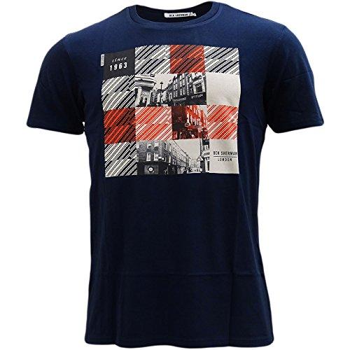 Ben Sherman -  T-shirt - T-shirt  - Basic - Maniche corte  - Uomo Navy Large