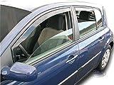 J&J AUTOMOTIVE | Deflecteurs d'air déflecteurs de Vent Compatible avec Megane II 5 Portes Hatchback 2002-prés 4 pièces