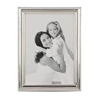 Stonebriar Shiny Silver Metal 5x7 Photo Frame