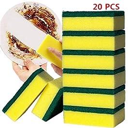Sikena 20 PCS Casa Cucina Doppio Strato Soft Strong Water Absorption Dishwashing Sponge Spugne