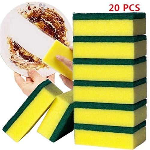 20 piezas Esponja Limpieza de Platos Doble Cara Hogar Cocina Absorbente De Agua Esponja