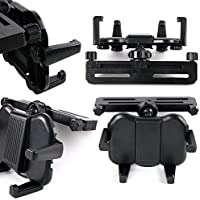 In-Car Headrest Mount with Adjustable Arms for the Voyager 7, Voyager 7PM, Voyager 7PP, Voyager 9, Voyager 9PM, Voyager 9PP, Voyager Clamshell 7 & Voyager Clamshell 9 Portable DVD Players - by DURAGADGET