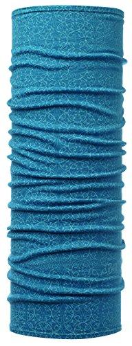 Buff Lightweight Merino Wool Multifunktionstuch, Gloow Lake Blue, One Size Original Buff