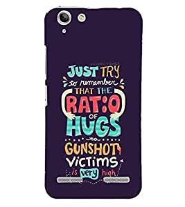 FUSON Just Try Ratio Hugs 3D Hard Polycarbonate Designer Back Case Cover for Lenovo Vibe K5 Plus :: Lenovo Vibe K5 Plus A6020a46 :: Lenovo Vibe K5 Plus Lemon 3