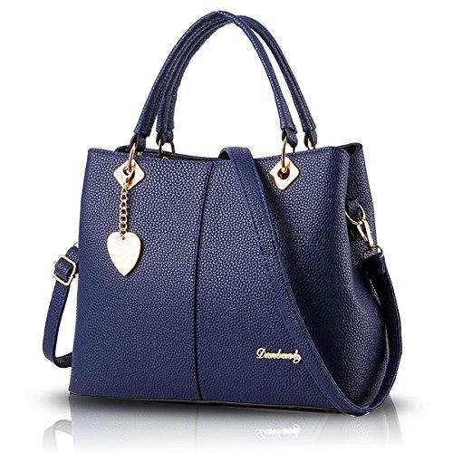 Sunas Borsa dell'unità di elaborazione semplice spalla borsetta borsa borsa messenger bag Ms. blu
