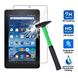 Infiland Protector de Pantalla de Vidrio Templado para Amazon Fire 7 Tablet (7th Generation - 2017 Release) / Fire 7 Tablet (5th Generation - 2015 Release)(Tempered-Glass)