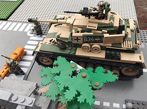 Modbrix 2508 – ☠ Bausteine Panzer IV Ausf. F1 Totenkopf Division inkl. Custom Elite Wehrmacht Soldaten aus Lego© Teilen ☠ - 4