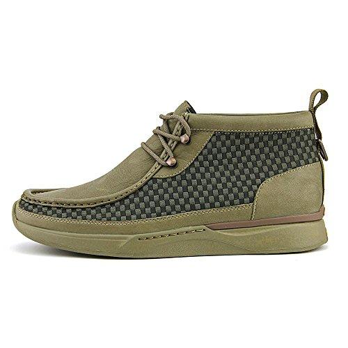 Clarks Tawyer Stealth punta rotonda in pelle Chukka Boot 03527-KHAKI COMB