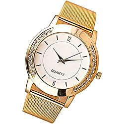 Women watch,Rawdah Crystal tainless Steel Analog Quartz Wrist Watch