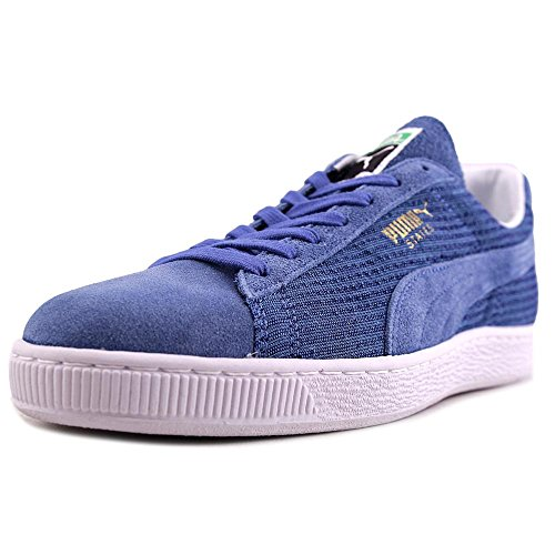 Puma States Indigo Woven MIJ Daim Baskets Coronet Blue-Metallic Gold