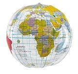 R507 Wasserball Strandball Weltkugel Design ca. 28 cm Wasserspielzeug Globus G1