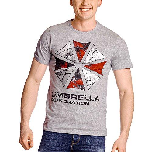 Resident Evil Herren T-Shirt Umbrella Corporation grau - XL