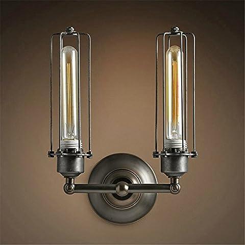 QWER Création moderne Village Chambre Loft Industriel rétro Lampes lit