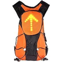 Amorus® 5L Mochila Impermeable de Bicicleta Lámpara Indicador seguridad LED intermitente a distancia inalámbrico para la noche la seguridad de bicicleta, naranja