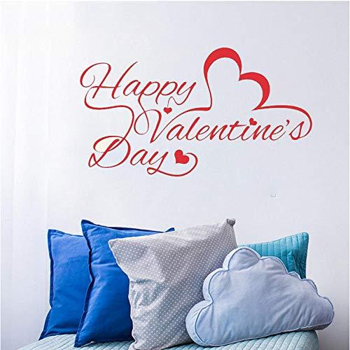 Wandaufkleber Zitat Wandaufkleber Happy Valentine'S Day Wandaufkleber Schaufenster Dekor Home Decel Muster Vinyl Innenwandbild (Valentines Day Dekor)