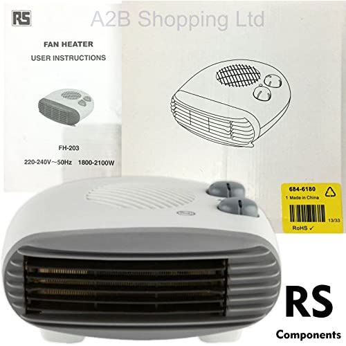 51j3emLx9CL. SS500  - 2kw Electric Fan Heater Portable Small Silent Hot Cold Watt 1kw Energy Saving CE ...