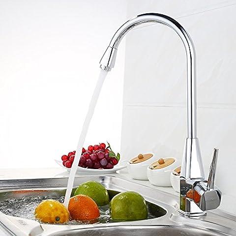 Deluxe Wasserhahn Kostenloser Versand tippen Sie auf Neu Küche verchromt einzigen Griff Einzelhandel Küche Wasserhahn Küche tippen Sie auf (Br Küche)