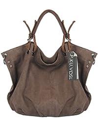 Canvas Shopper, P.KU.VDSL Damen Tasche Umhängetasche Handtasche Hobos Bag Shoulder Bags Damen Schultertasche Beutel Shopping Bag Groß Handtaschen Beuteltasche