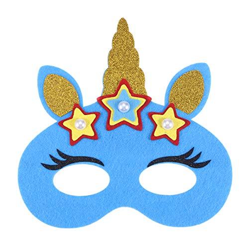 Led Licht Kostüm Mädchen - Lurrose Halloween licht maske, led cartoon halbmaske einhorn augenmaske leuchtende patch cosplay kostüm maske zubehör für kinder mädchen (einhorn)