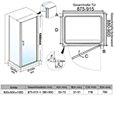 Neueröffnung 900x900mm Duschkabine Rechteck Eckeinstieg Rahmenlos Schwingtür + Seitenwand Test