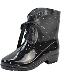 LvRao Mujeres Boots de Tacón Alto Impermeable Zapatos de Lluvia Nieve Botas Zapatos de Goma para Damas
