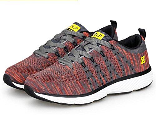 Men's Mixed Colors Zapatillas Breathable Running Shoes Orange