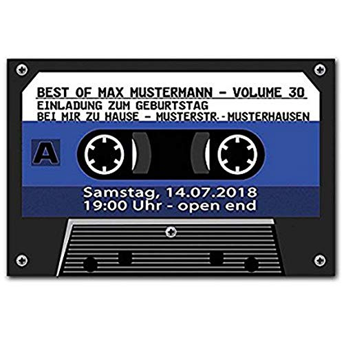 Hipiyoled Custom Paillasson Entrance Floor Mat Funny Decoractive Cassette Tape Non-Slip Paillasson 30 by 18 inch Machine Washable Non-Woven Fabric-Orange