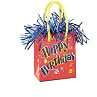 Happy Birthday Balloon Weight (mini gift bag style)
