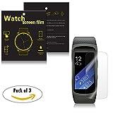 Samsung Gear Fit 2sm-r360Smartwatch Displayschutzfolie–ifeeker 3Pack Full converage Staub und kratzfest Ultr