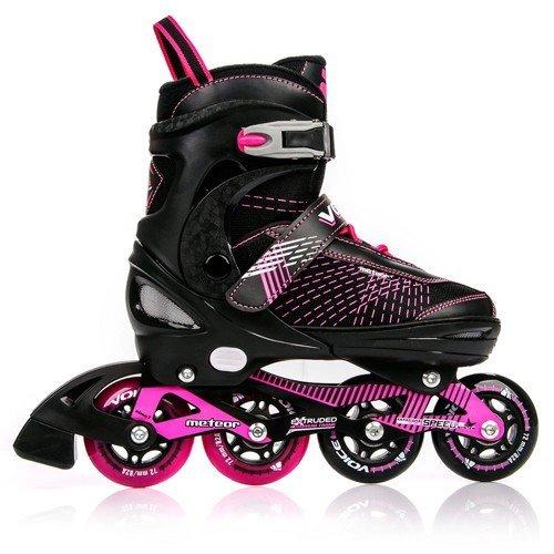 METEOR® VOICE Inline Skates | Kinder | Damen | Größenverstellbar | 30-33 / 34-37 / 38-41 | ABEC7