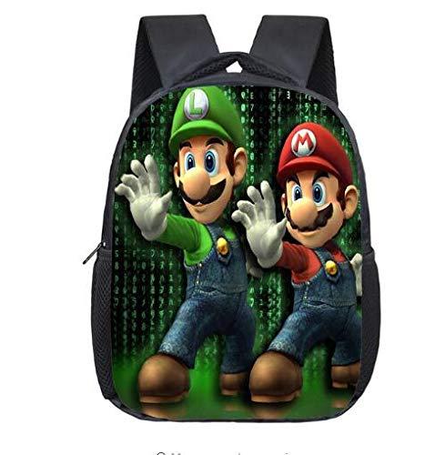 RTMN Mochila Infantil Super Mario Bros Nursery Scuola Borse Bambini Bambino Bambino...