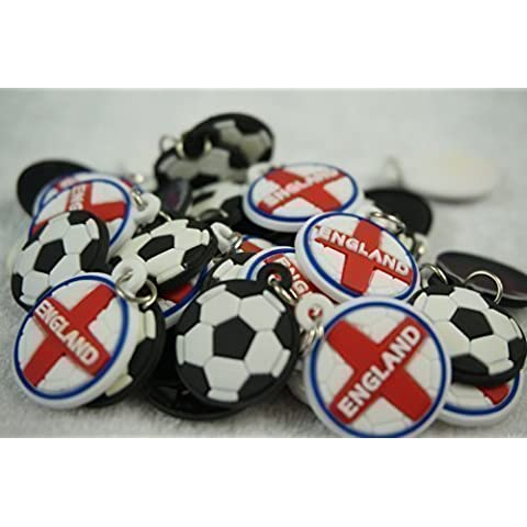 10 Pack Football and England Charms For Rubberband Loom Bracelets by PANMER