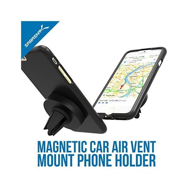 Sabrent Air grille d'aération magnétique support voiture universel pour la plupart des smartphones Appareils (CM-MGHB)