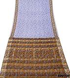 Indischen Jahrgang Saree Taube Blauen Wrap Abstrakten