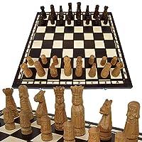 BAMBINIWELT-Schachspiel-Schach-Schachbrett-mit-Figuren-60x60cm-handgeschnitzt