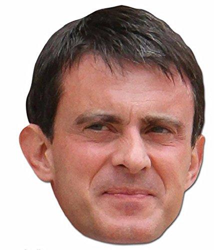 Manuel Valls Kostüm - Star Einbauöffnungen sm252Manuel Valles Maske (Standard)