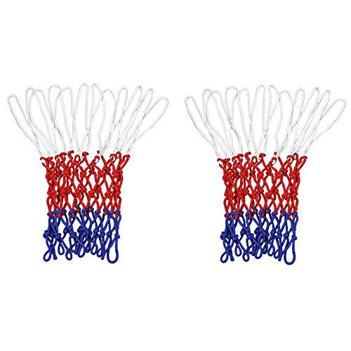 SIENOC Netz für Basketballkorb, Basketball Korb Netz Ersatznetz Ballnetz 3mm, 12 Schleifen, 3 Farbig (2 Stück)