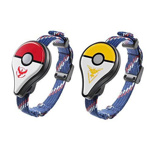 2 Pack Wireless Pokemon GO Armband Bluetooth Armband Wearable LED Spielgerät Monster Detector Smart Erinnerung Armband Pokemon GO Plus (Rot + Gelb) -