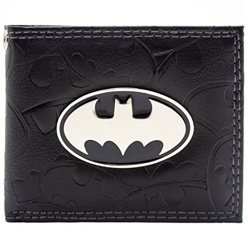 DC Comics Batman Badge & Bat Symboles Noir Portefeuille