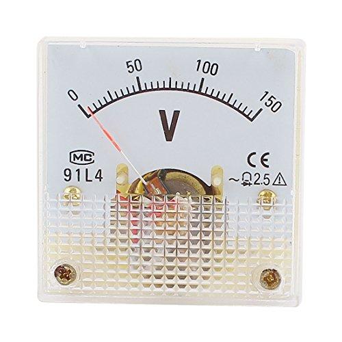 sourcingmap® 150V Analog Panel Volt Spannung Meter Voltmeter Gauge 91L4AC 0-150V de -
