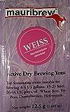 BierHefe Mauribrew - WEISS - Trockenhefe 12,5g - Weizenbier Hefe | Obergärige Hefe | Homebrew | Bier brauen | Hefe für Bier | Trocken Bierhefe